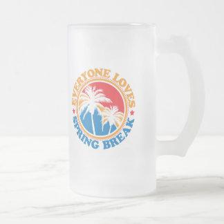 Everyone Loves Spring Break! Frosted Glass Mug