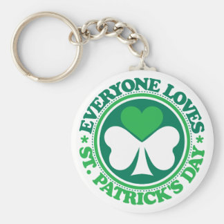 Everyone Loves St. Patrick's Day Basic Round Button Key Ring