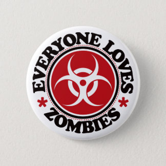 Everyone Loves Zombies - Red 6 Cm Round Badge