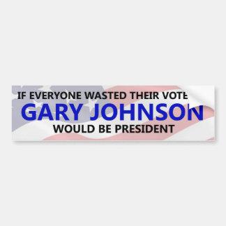Everyone needs to waste their vote on Gary Johnson Bumper Sticker