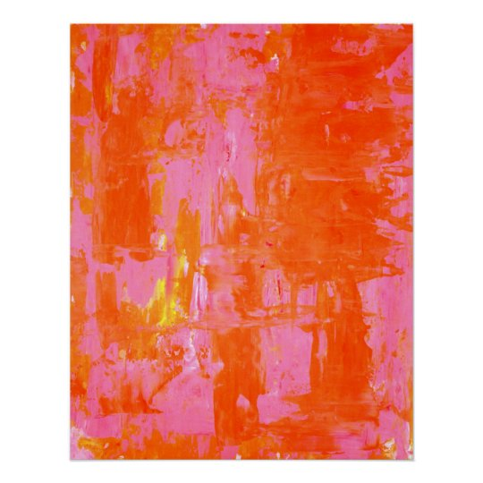 'Everyone's Fav' Orange and Pink Abstract Art