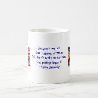 Everyone's worried about stopping terrorism... basic white mug