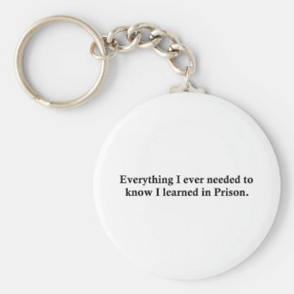 Everything and Prison Basic Round Button Key Ring