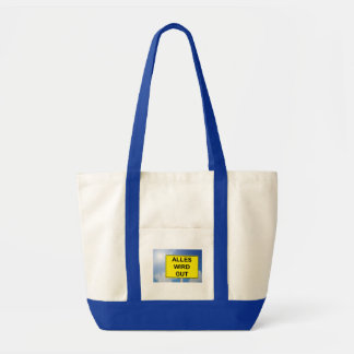 Everything becomes property sign with sky tote bag