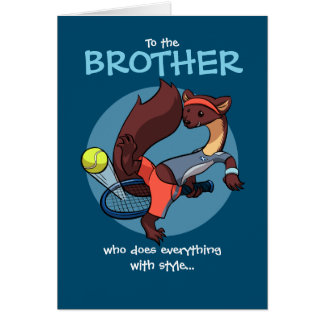 Everything Done with Style Tricky Tennis Cartoon Greeting Card