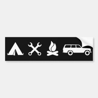 Everything FJ60 Icon Bumper Sticker - Black