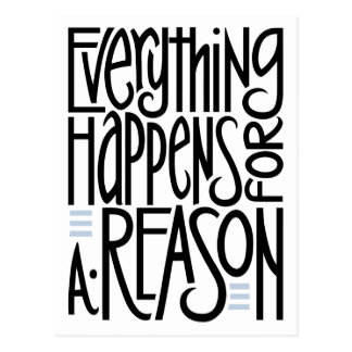Everything Happens Postcard