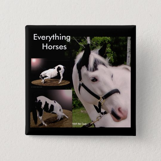 Everything Horses... 15 Cm Square Badge