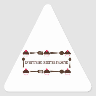Everything Is Better Frosted Triangle Sticker
