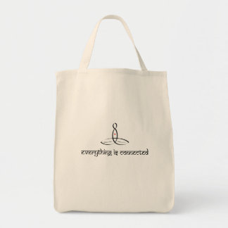 Everything Is Connected - Black Sanskrit style Bag