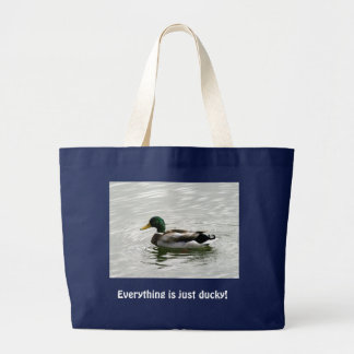 Everything is just ducky! jumbo tote bag