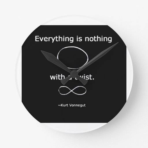 Everything is Nothing with a twist solidchainwear Wall Clocks