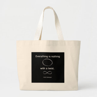 Everything is Nothing with a twist solidchainwear Canvas Bags
