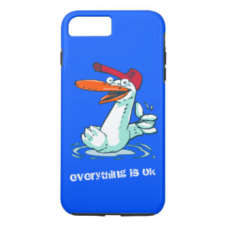 everything is ok funny duck cartoon iPhone 8 plus/7 plus case