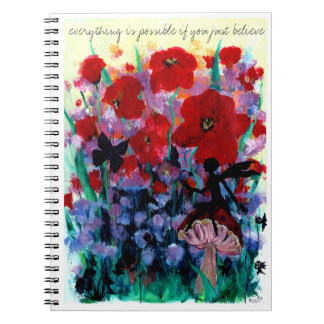 Everything is possible if you believe in fairies notebooks