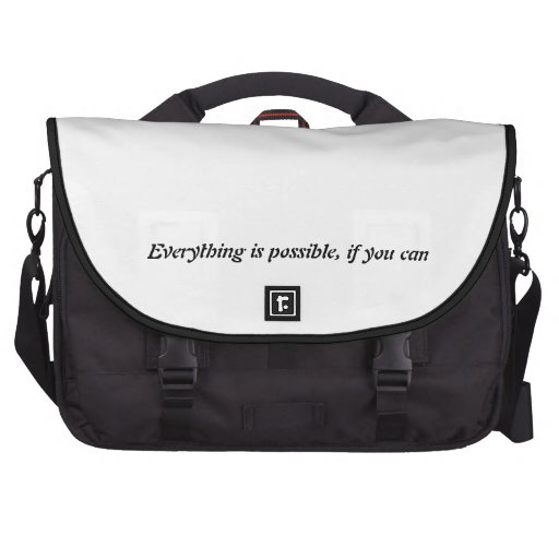 Everything is possible laptop bags