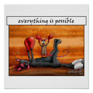 Everything is possible! Motivational Poster