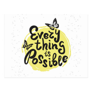 Everything Is Possible Postcard