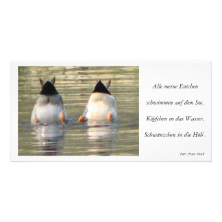 Everything my ducklings photo greeting card