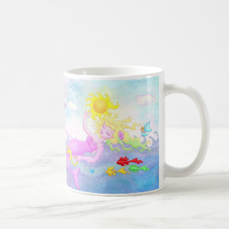 """Everything Pink, I Think"" Mermaid Mug"