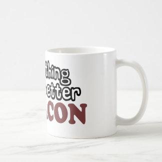 everything tastes better bacon basic white mug