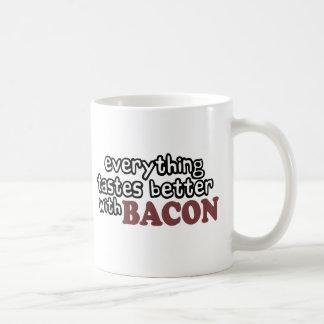 everything tastes better bacon coffee mug