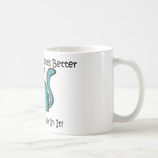 Everything Tastes Better With Cat Hair In It Basic White Mug