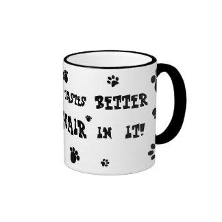 everything tastes better with cat hair mug