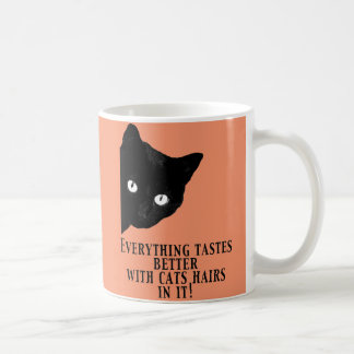 Everything tastes better with cats hairs in it basic white mug