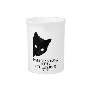 Everything tastes better with cats hairs in it beverage pitcher