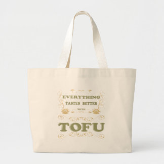 Everything tastes better with tofu jumbo tote bag