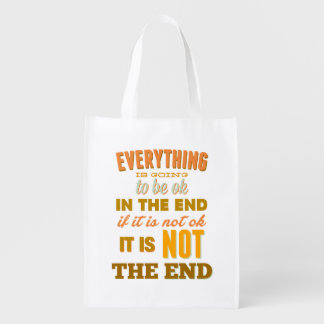 Everything Vintage Typography Reusable Bag Market Tote