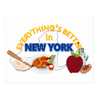 Everything's Better in New York Postcard