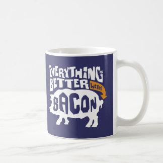 Everythings Better With Bacon Basic White Mug