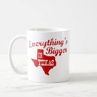 Everything's bigger in Texas State Shape Mug