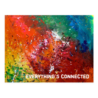 'everything's connected' postcard