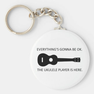 Everything's Gonna Be OK! Basic Round Button Key Ring