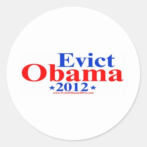 EVICT OBAMA 2012 ROUND STICKER