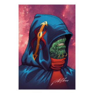 Evil Alien Diplomat Art by Al Rio Poster