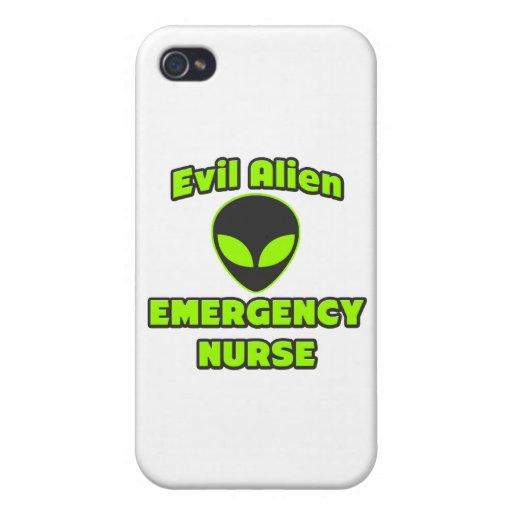 Evil Alien Emergency Nurse iPhone 4 Case