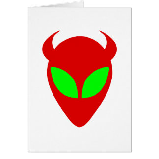 Evil Alien Greeting Card