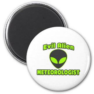 Evil Alien Meteorologist Refrigerator Magnet