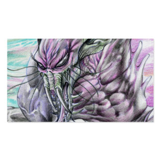 Evil Alien Monster Futuristic Sci-Fi by Al Rio Business Card Template