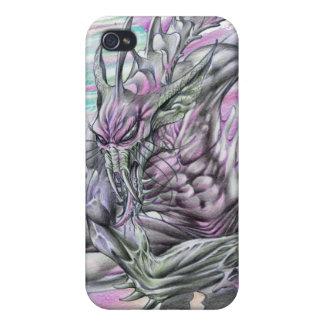 Evil Alien Monster Futuristic Sci-Fi by Al Rio Cases For iPhone 4