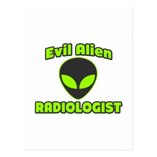 Evil Alien Radiologist Post Cards