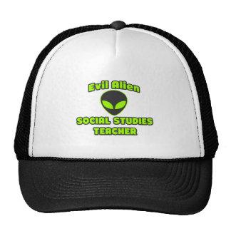Evil Alien Social Studies Teacher Mesh Hat