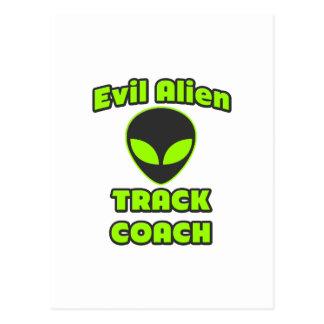 Evil Alien Track Coach Postcards