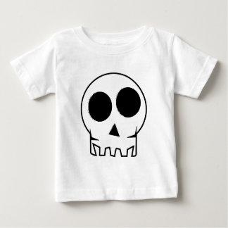Evil and scary inky skull baby T-Shirt