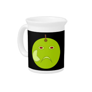 Evil Apple with Scar Halloween Pitcher