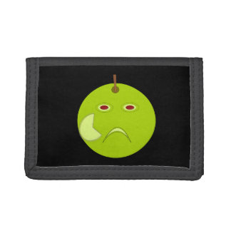 Evil Apple with Scar Halloween Wallet